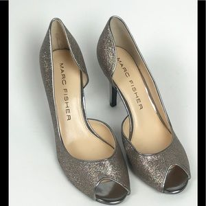 MARC FISHER Joey 3 Glitter Sparkle Heels Sz 7